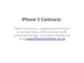 iPhone 5 Contracts
