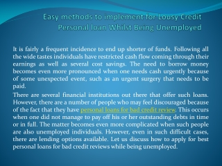 personal loans for bad credit review