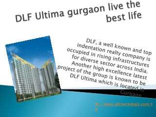 DLF Ultima Gurgaon