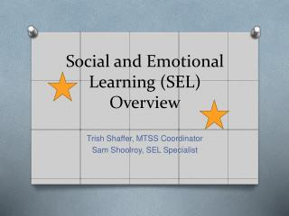 Social and Emotional Learning SEL Overview