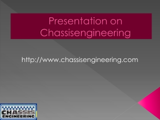 Chassis Engineering- State-Of-Art Racing Components Supplier
