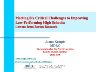 Meeting Six Critical Challenges to Improving Low-Performing High Schools: Lessons from Recent Research