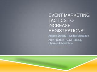 Event Marketing Tactics to Increase Registrations