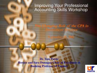 Improving Your Professional Accounting Skills Workshop