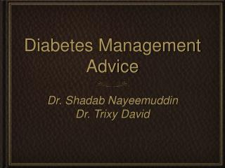 Diabetes Management Advice