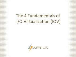 Four IOV Fundamentals