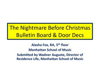 The Nightmare Before Christmas Bulletin Board & Door  Decs