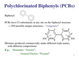 Polychlorinated Biphenyls (PCBs)