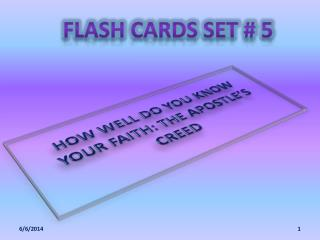 FLASH CARDS SET # 5