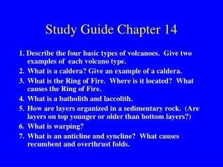 Study Guide Chapter 14