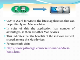 CSV to vCard for Mac