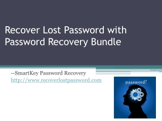 Recover Lost Password with Password Recovery Bundle
