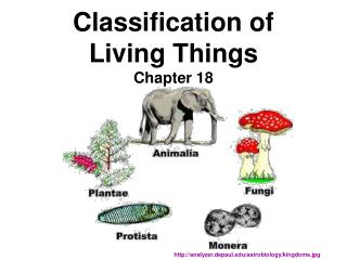 Classification of Living Things Chapter 18