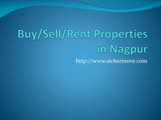 Buy,sell and rent properties in nagpur - sichermove.com