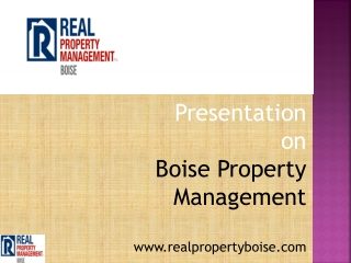 Real Property Management- Real Player In Property Management