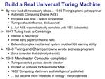 Build a Real Universal Turing Machine