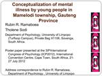 Conceptualization of mental illness by young people in Mamelodi township, Gauteng Province