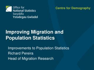 Improving Migration and Population Statistics