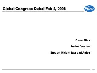 Global Congress Dubai Feb 4, 2008