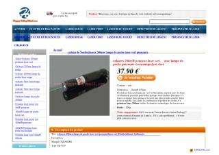 200mw laser vert puissante Focusable Avec Clé de Sécurité