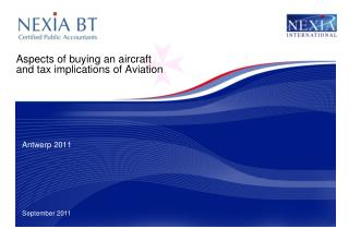 Aspects of buying an aircraft and tax implications of Aviation