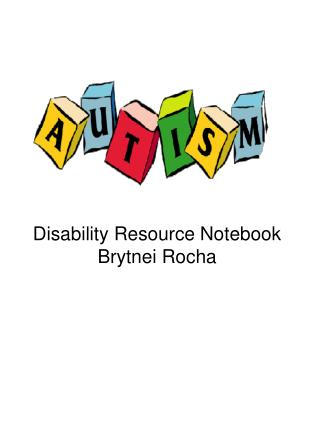 Disability Resource Notebook Brytnei Rocha