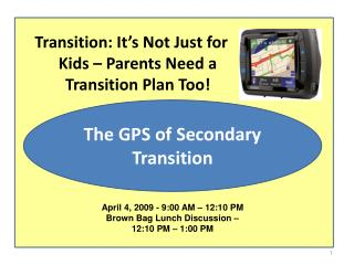 Transition: It's Not Just for Kids – Parents Need a Transition Plan Too!