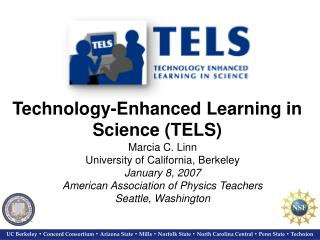 Technology-Enhanced Learning in Science (TELS)