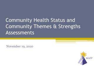 Community Health Status and Community Themes & Strengths Assessments