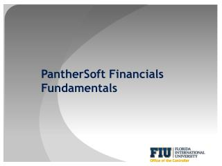 PantherSoft Financials Fundamentals