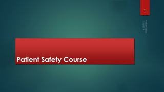 Patient Safety Course