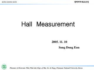 Hall  Measurement
