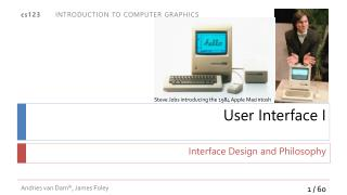 User Interface I