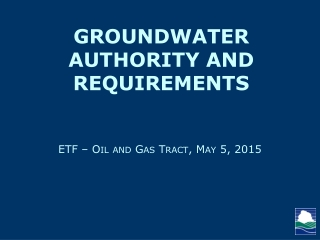 Groundwater Quality Protection