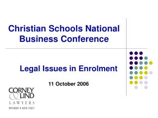 Christian Schools National Business Conference