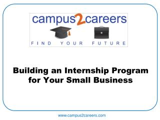 Building an Internship Program for Your Small Business