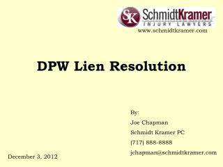 DPW Lien Resolution