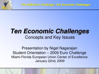 Ten Economic Challenges