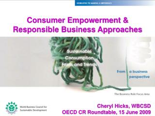 Consumer Empowerment & Responsible Business Approaches