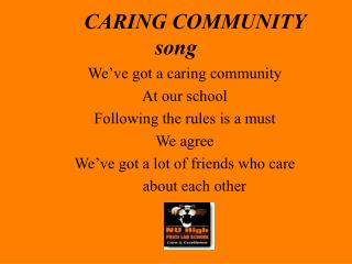 CARING COMMUNITY song