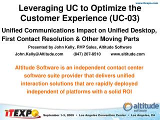 Leveraging UC to Optimize the Customer Experience (UC-03)