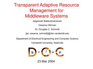 Transparent Adaptive Resource Management for Middleware Systems