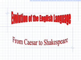 Evolution of the English Language