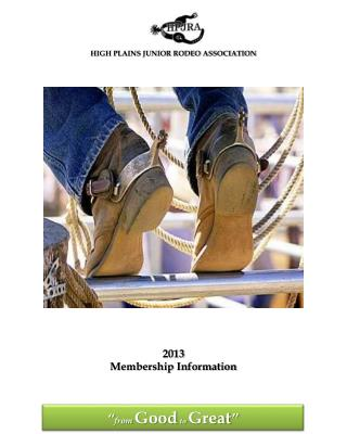 HIGH PLAINS JUNIOR RODEO ASSOCIATION