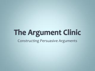 The Argument Clinic