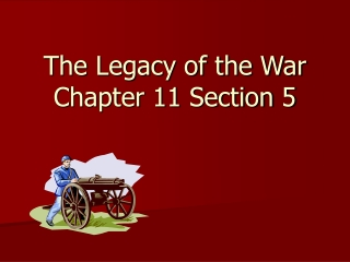 The Legacy of the War Chapter 11 Section 5