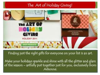 The  Art of Holiday Giving!
