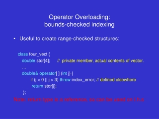 Polymorphism, Interfaces  Operator Overloading