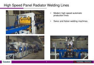 High Speed Panel Radiator Welding Lines