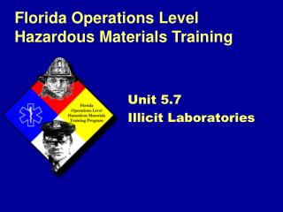 Unit 5.7 Illicit Laboratories
